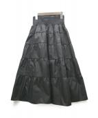 PRADA(プラダ)の古着「ポプリンスカート」|ブラック