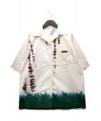 PRADA(プラダ)の古着「Stretch cotton poplin shirt」|アイボリー