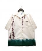 PRADA(プラダ)の古着「Stretch cotton poplin shirt」 アイボリー