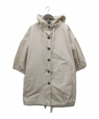 PRADA(プラダ)の古着「コットンワイドフーデッドジャケット」|ベージュ