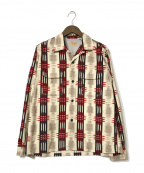 STYLE EYES(スタイルアイズ)の古着「フランネルスポーツシャツ」|ベージュ×レッド
