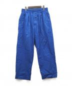 HAVERSACK(ハバーサック)の古着「ワイドシルエットパンツ」 ブルー