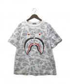 A BATHING APE(エイプ)の古着「シャークTシャツ」|ホワイト
