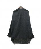 SOULEIADO(ソレイアード)の古着「コットンエンブロイダリースタンドネックブラウス」|ブラック