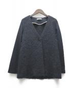 ()の古着「モヘヤ混切替ジャケット」|ネイビー