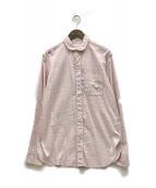 ()の古着「総柄シャツ」 ピンク