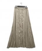 ARGUE(アギュー)の古着「ギャザースカート」|ベージュ
