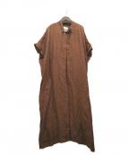ARGUE(アギュー)の古着「リネンワンピース」|ブラウン