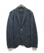 EPOCA UOMO(エポカウォモ)の古着「フラワージャカードジャケット」|ネイビー