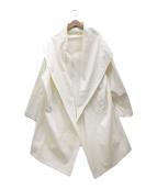 ()の古着「フーデッドトッパーコート」 ホワイト