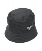 PRADA(プラダ)の古着「ナイロンバケットハット」|ブラック
