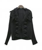 ISSEY MIYAKE FETE(イッセイミヤケフェット)の古着「デザインプリーツジャケット」 ブラック