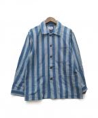 GAIJIN MADE()の古着「ストライプシャツジャケット」|ネイビー