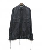 Midorikawa(ミドリカワ)の古着「19AW ステンレスストライプシャツ」|ネイビー