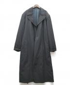 Yohji Yamamoto pour homme(ヨウジヤマモトプールオム)の古着「ウールギャバロングコート」|ブラック