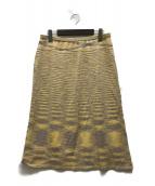 ()の古着「ニットスカート」|イエロー