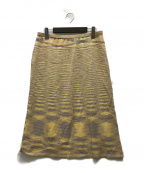 missoni(ミッソーニ)の古着「ニットスカート」 イエロー