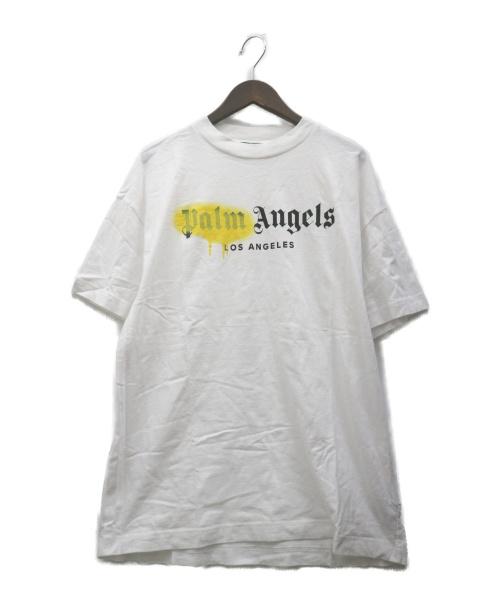 Palm Angels(パーム・エンジェルス)Palm Angels (パーム・エンジェルス) プリントTシャツ ホワイト サイズ:L PMAA001S20413055の古着・服飾アイテム