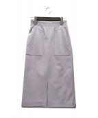 Demi-Luxe Beams(デミルクス ビームス)の古着「フロントポケット タイトスカート」|パープル