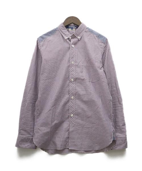 CDG JUNYA WATANABE MAN(コムデギャルソンジュンヤワタナベ)CDG JUNYA WATANABE MAN (コムデギャルソンジュンヤワタナベ) チェックシャツ レッド サイズ:S WR-B038の古着・服飾アイテム