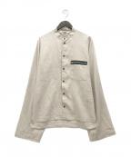 SUNSEA()の古着「リネンボンバーシャツ」|ブラウン