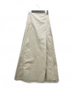 outersunset(アウターサンセット)の古着「クリスプコットンラップスカート」 ベージュ