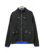 ()の古着「リバーシブルニットジャケット」|ブラック×ブルー