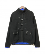 Bark(バーク)の古着「リバーシブルニットジャケット」|ブラック×ブルー