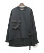 ()の古着「EX.WAIST BELTED SHIRTS MIX PO」|ブラック