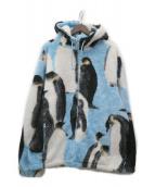 ()の古着「Penguins Hooded Fleece Jacket」|ブルー×ブラック