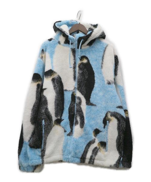 SUPREME(シュプリーム)SUPREME (シュプリーム) Penguins Hooded Fleece Jacket ブルー×ブラック サイズ:L 20FW ペンギンの古着・服飾アイテム