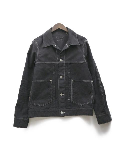 ONIKI(オニキ)ONIKI (オニキ) モールスキンカバーオール ブラック サイズ:M 58-08-54-08008の古着・服飾アイテム
