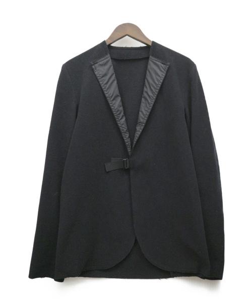 LEE ROACH(リーローチ)LEE ROACH (リーローチ) カシミヤ混ノーカラージャケット ブラック サイズ:S AD2014 英国製の古着・服飾アイテム