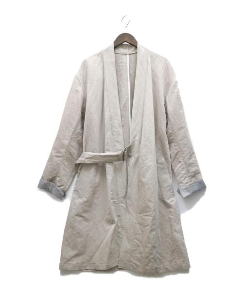 Bernabeu(ベルナベウ)Bernabeu (ベルナベウ) タイロッケンコート ベージュ サイズ:38(M) RN-BER-6A-01055 日本製の古着・服飾アイテム