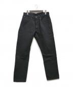 sanca(サンカ)の古着「BLK DENIM TAPERED 5Pデニムパンツ」 ブラック
