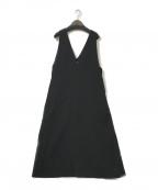 KBF(ケービーエフ)の古着「Vネックフレアジャンパースカート」 ブラック