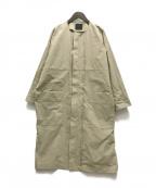 KBF(ケービーエフ)の古着「フロントビッグタックコート」 ベージュ
