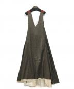 TOGA ARCHIVES(トーガアーカイブス)の古着「ジャンパースカート」|ブラウン