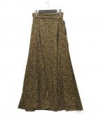 U by SPICK&SPAN(ユー バイ スピック&スパン)の古着「20SSレオパードスカート」 ブラウン