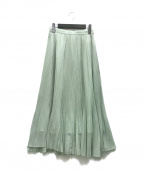 U by SPICK&SPAN(ユー バイ スピック&スパン)の古着「20SSプリーツスカート2」 グリーン