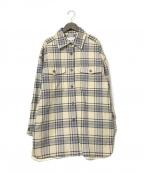 BEAUTY&YOUTH UNITED ARROWS(ビューティーアンドユースユナイテッドアローズ)の古着「コットンチェックビッグシャツ」|ベージュ