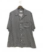 agnes b homme(アニエスベーオム)の古着「総柄オープンカラーシャツ」 ネイビー