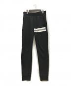 MONCLER()の古着「21SS ロゴラインスウェットパンツ」 ブラック