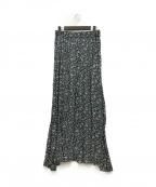 ISABEL MARANT ETOILE(イザベルマランエトワール)の古着「フローラルプリントマキシスカート」|グリーン×ピンク