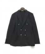 ETONNE(エトネ)の古着「銀釦ウールダブルジャケット」|ネイビー