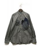 ()の古着「切替シャツ」|グレー