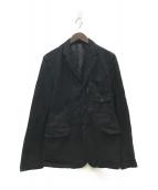 ()の古着「製品染めエステルポケットデザインジャケット」|ブラック
