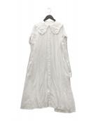 ()の古着「フリルカラードレス」|ホワイト