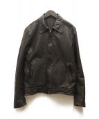 ()の古着「シワ加工ラムレザージャケット」|ブラウン