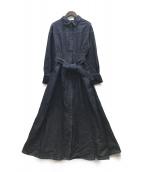 ()の古着「21SS ステッチアートシャツワンピース」|インディゴ